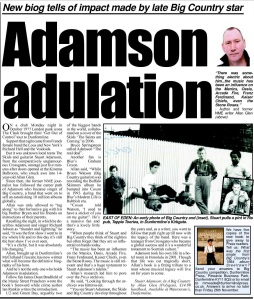Feature on Stuart Adamson - In a Big Country