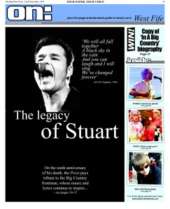 Stuart Adamson 10th anniversary tribute - Dunfermline Press